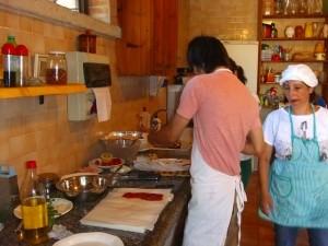 アグリツーリズモのキッチンで料理教室!