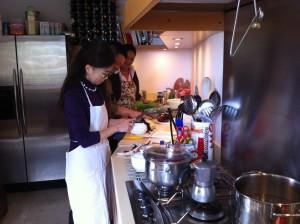 タオルミーナで料理教室