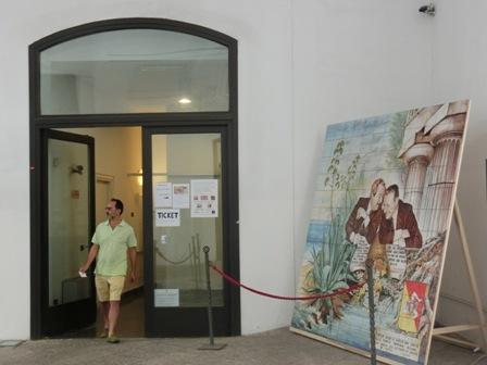 パレルモで行われている玉・ラグーサさんの展覧会