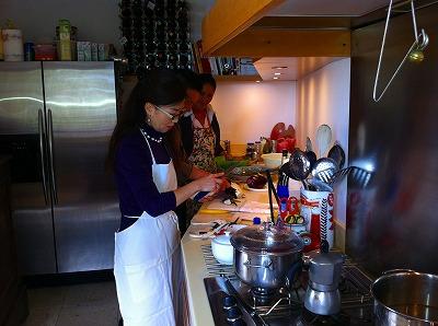 タオルミーナのお宅で料理教室