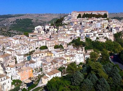 スペリオーレから見たラグーサ・イブラの町並み