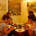 シラクーサのレストランで料理教室