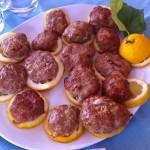 ポルペッタのレモン葉包み@タオルミーナ