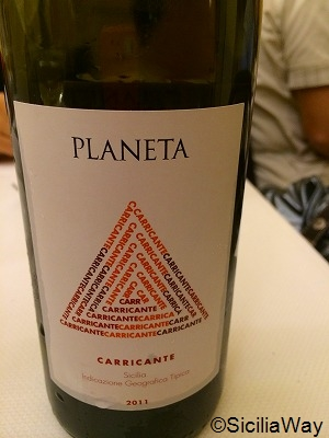 プラネタ社のエトナワイン『Carricante』
