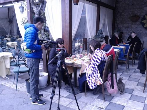 タオルミーナでのロケ撮影コーディネート